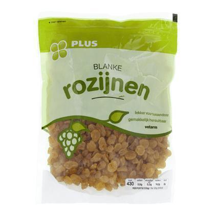 Blanke rozijnen (zak, 375g)