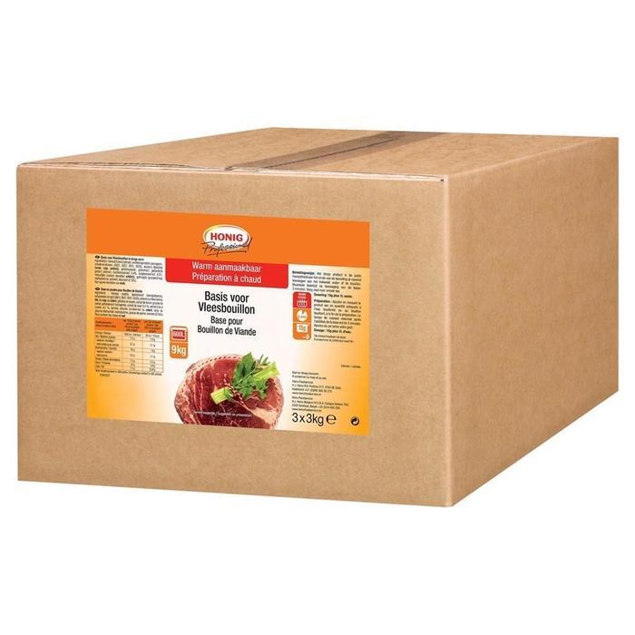 Honig Professional Basis voor Vleesbouillon 3 x 3 kg Doos (3 × 3kg)