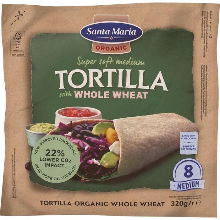 Santa Maria Whole wheat tortilla (320g)