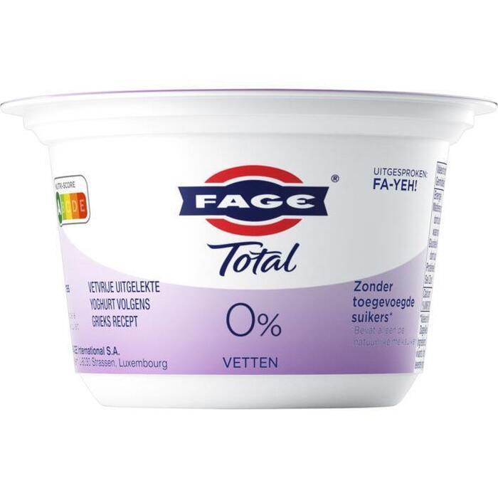 Total Griekse yoghurt 0% (bak, 170g)