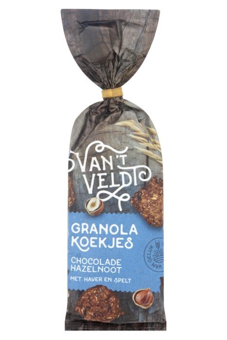 Van't Veldt Granola Koekjes Chocolade Hazelnoot 180g (180g)