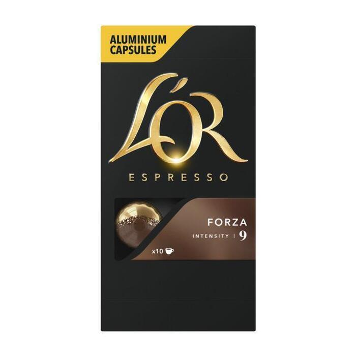Espresso capsules forza (Stuk, 10 × 52g)