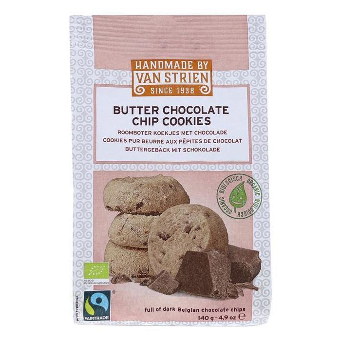 Biologische roomboter chocolade koekjes (zak, 140g)