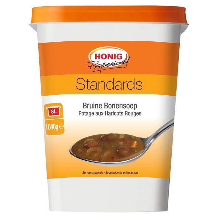 Honig Bruine Bonensoep Standards 1040 g Beker/kuipje (1.04kg)