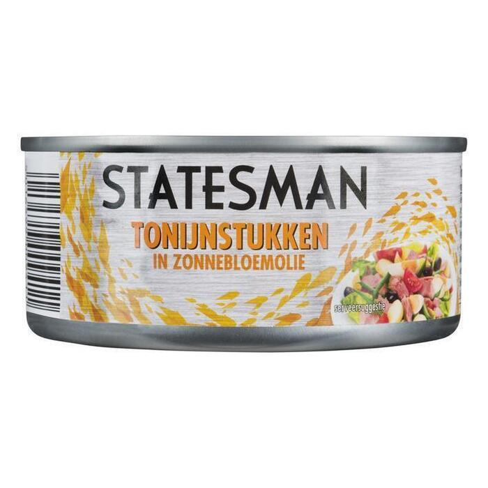 Statesman Tonijnstukjes in olie (160g)