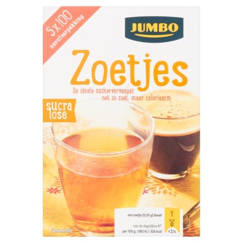 Jumbo Zoetjes Sucralose Navulverpakking 5 x 100 Stuks 25g (25g)