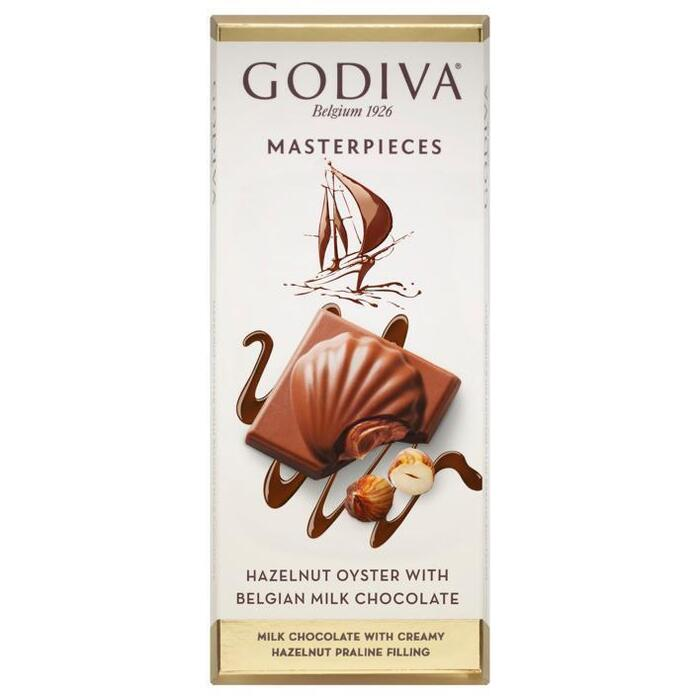 Godiva Masterpieces tablet hazelnut oyster (83g)