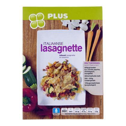 Maaltijdpakket Italiaanse lasagnette (223g)
