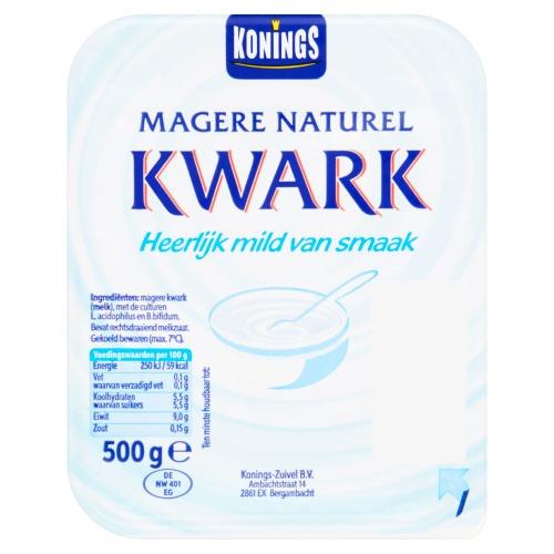 Magere naturel kwark (Stuk, 500g)