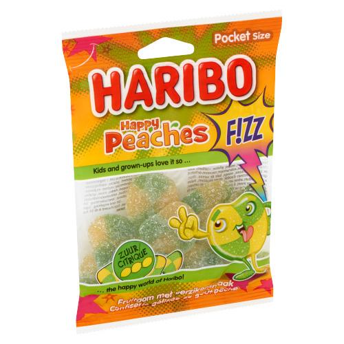Haribo Happy Peaches F!ZZ Pocket Size 70 g (70g)