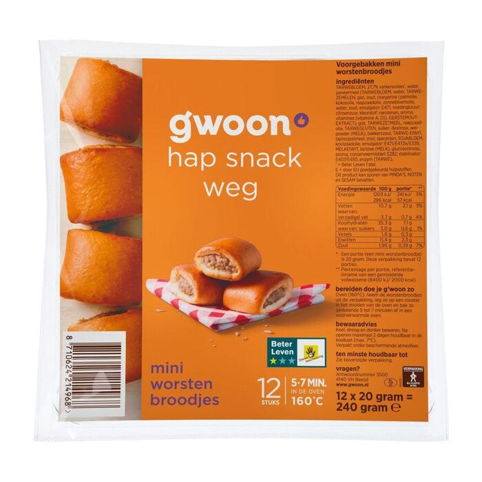 g'woon Mini worstenbrood