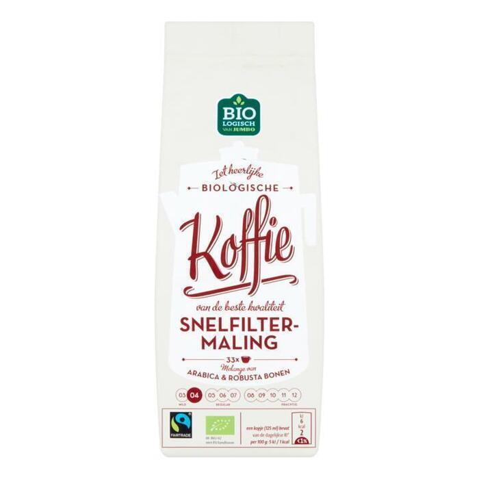 Jumbo Biologische Koffie Snelfiltermaling 250 g (250g)
