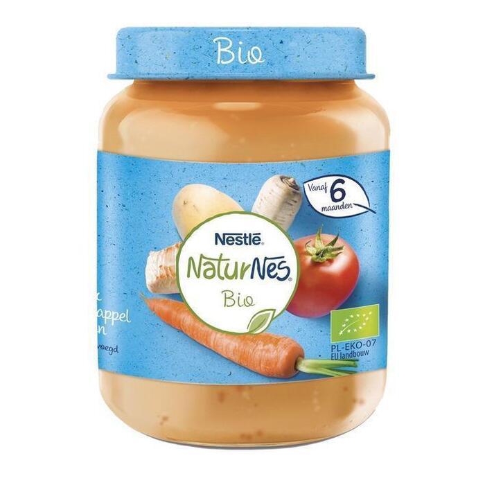 NESTLE NATURNES BIO Babyvoeding Wortel Tomaat Kalkoen 190 Gram Potje (190g)