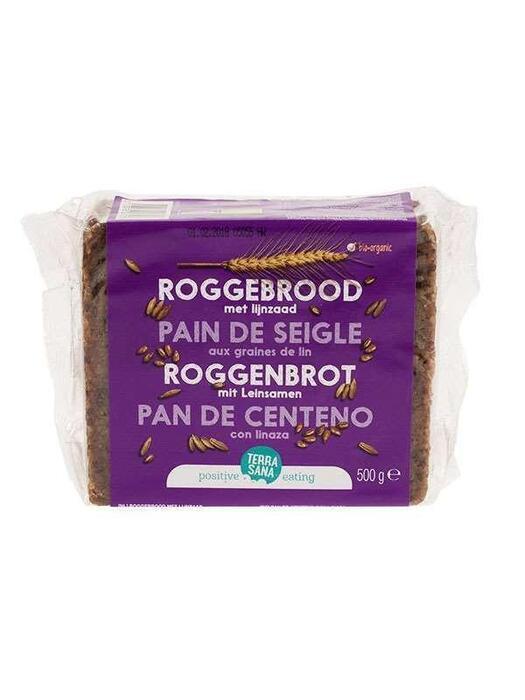 Roggebrood met lijnzaad TerraSana 500g (500g)