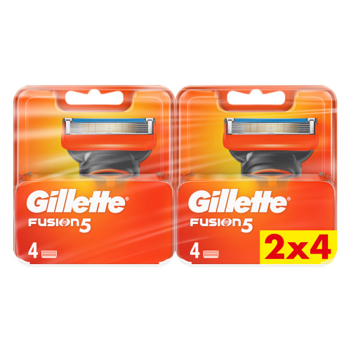 Gillette Fusion5 Navulmesjes Voor Mannen, 2x4 verpakking