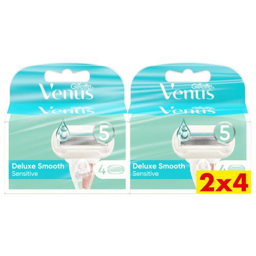 Venus Deluxe Smooth Sensitive Navulmesjes 2x4 verpakking