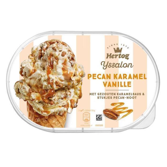 Hertog Pecan-karamel vanille roomijs (0.9L)