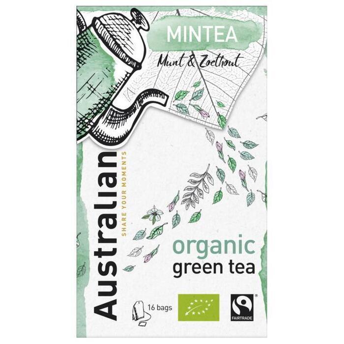 Australian Mintea green tea biologisch (16 × 1.6g)