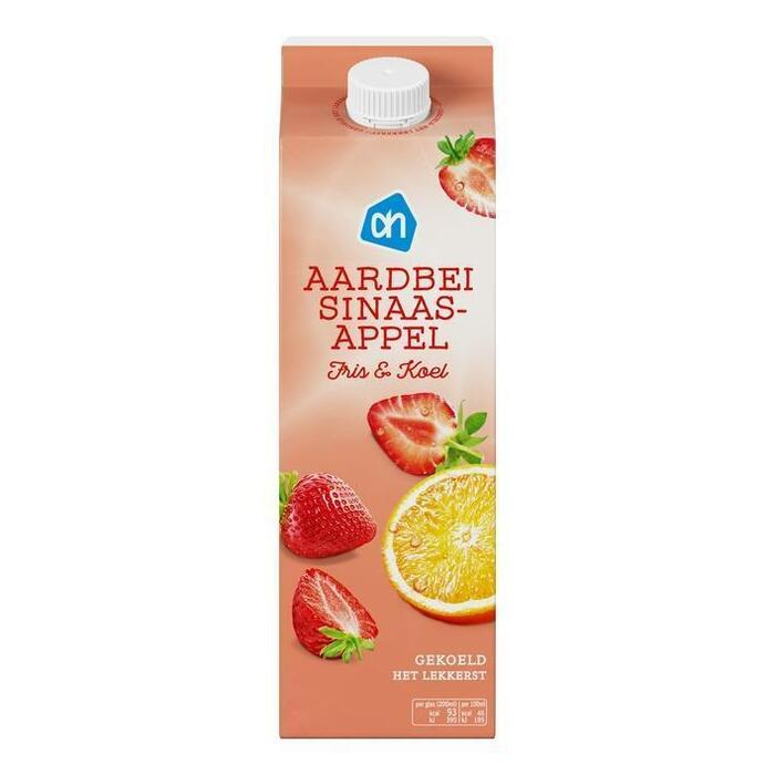 Gekoelde aardbei - sinaasappeldrank (pak, 1L)