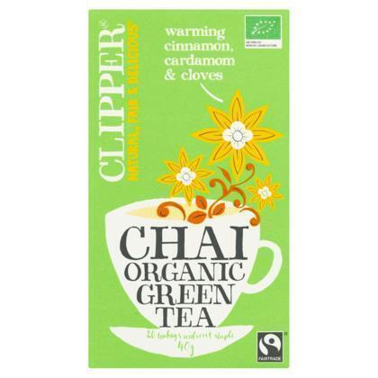Chai organic green tea (doos, 20 stuks) (builtje, 20 × 40g)