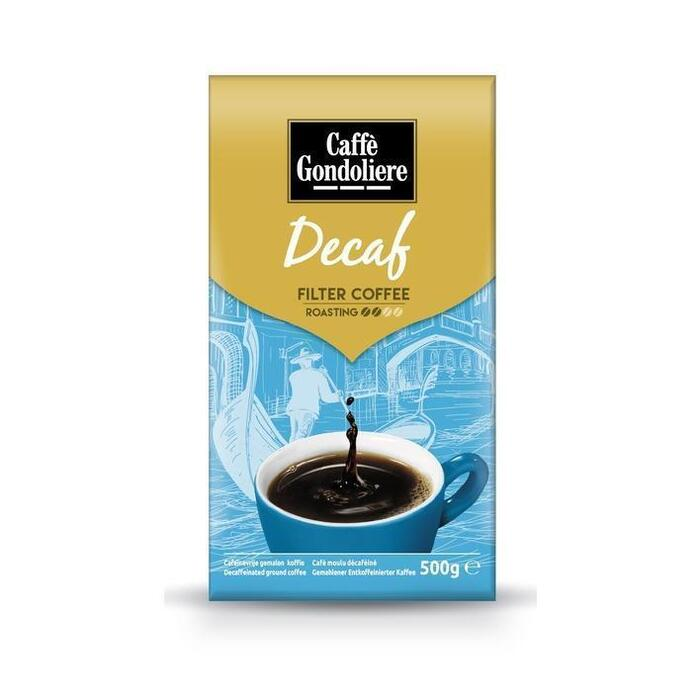 Caffe Gondoliere Decaf snelfiltermalling (500g)