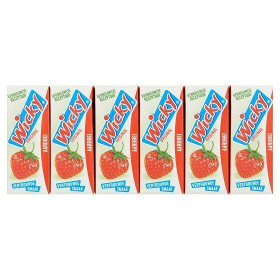 Wicky Original Aardbei 10 x 0,20 L (10 × 200ml)