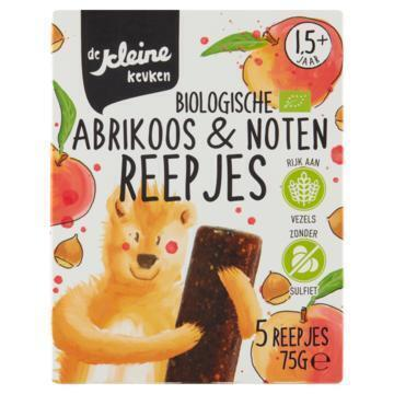 De Kleine Keuken Abrikoos & notenreepje 2+ jaar bio (75g)