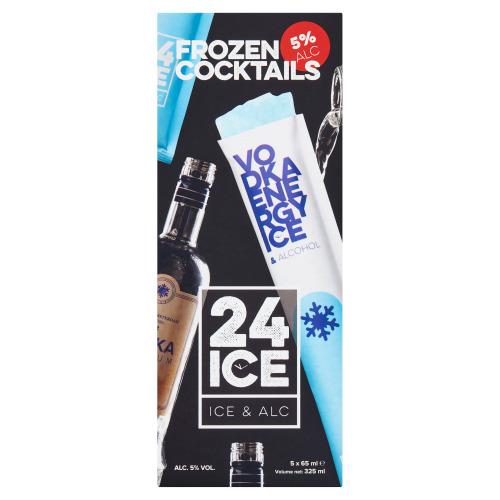 24 ICE Frozen Cocktails Vodka Energy Ice & Alcohol 5 x 65 ml