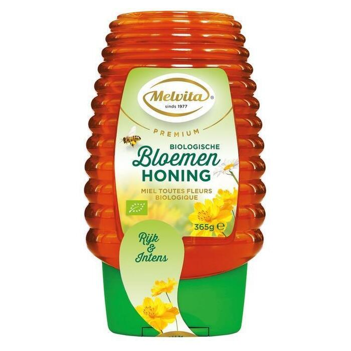 Melvita Premium bio bloemenhoning fles (365g)