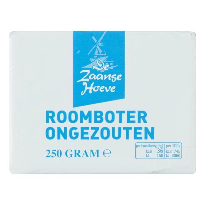 De Zaanse Hoeve Roomboter ongezouten (250g)