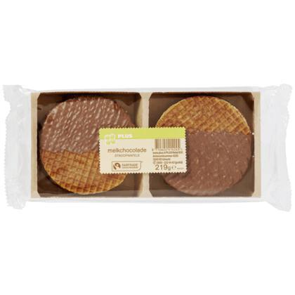 Stroopwafels melkchocolade Fairtrade (blister, 231g)