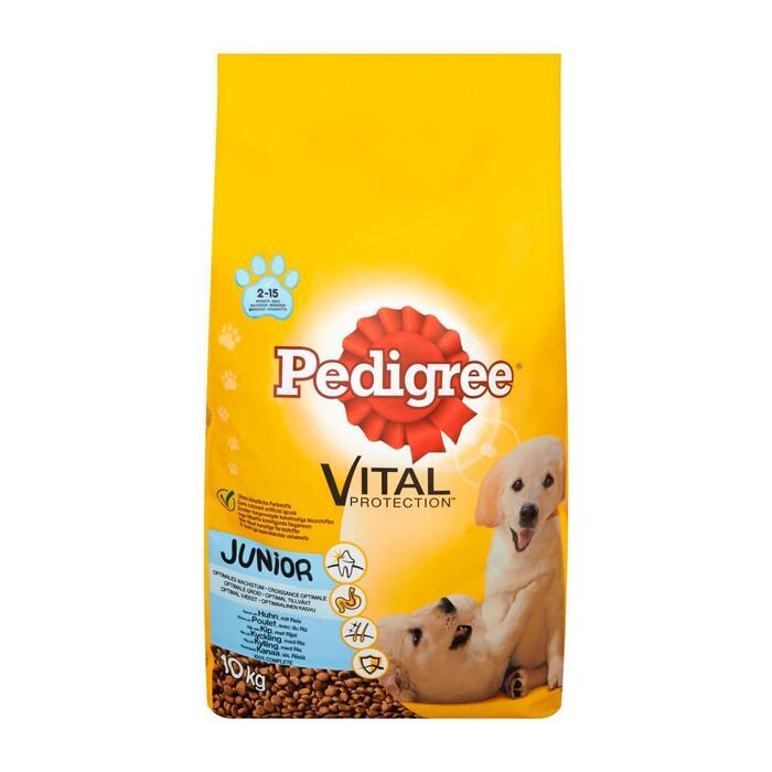 Pedigree Vital Protection Junior Rijk aan Kip met Rijst 2-15 Maanden 10 kg (10kg)