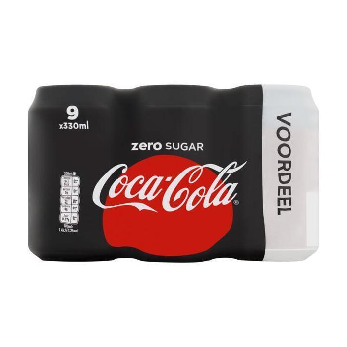 Coca-Cola Zero Sugar 9 x 330ml (9 × 33cl)