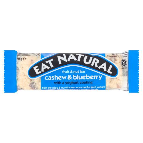 Eat Natural fruit & nut bar cashew en bosbes met een yoghurtlaagje (45g)