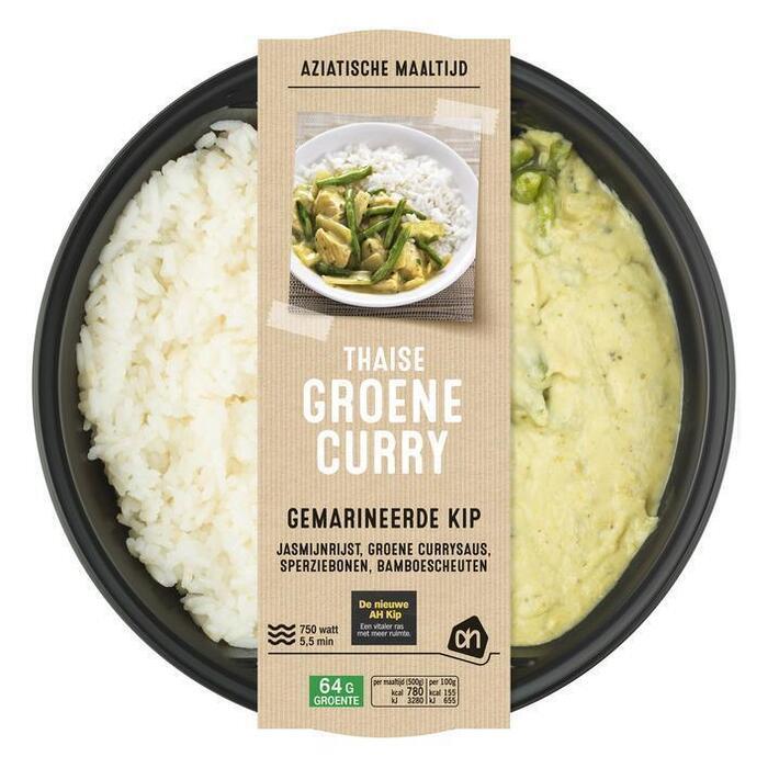 AH Groene curry met jasmijnrijst (500g)