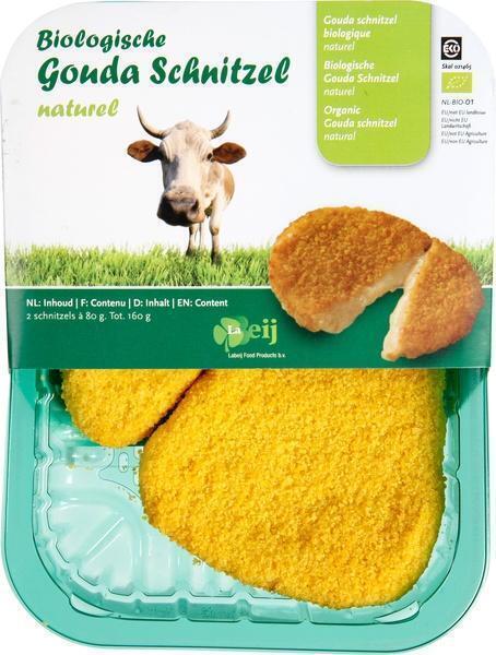 Biologische Gouda schnitzel (bak, 160g)