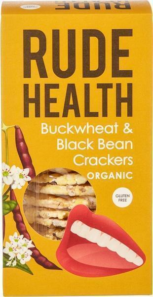 Boekweit en zwarte bonen crackers (120g)