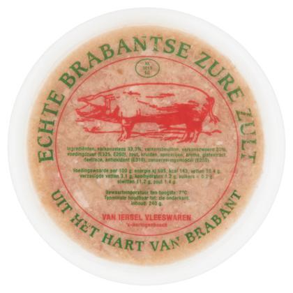 Van Iersel Vleeswaren Echte Brabantse Zure Zult 240 g (240g)
