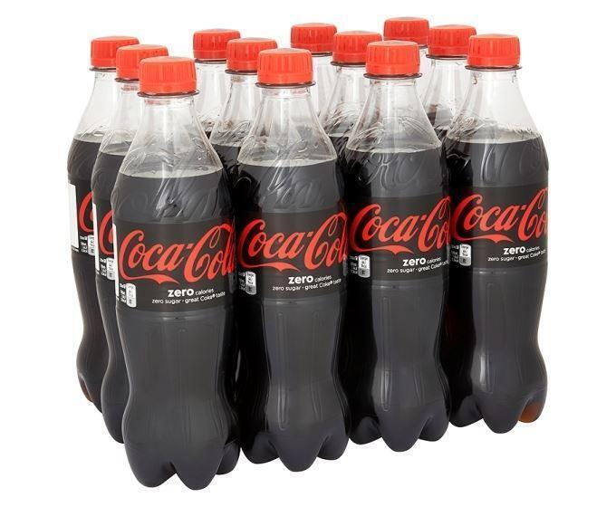 Cola Zero 12 x 500 ml (fles, 12 × 0.5L)