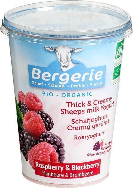 Schapenyoghurt framboos en bramen (6) (400g)