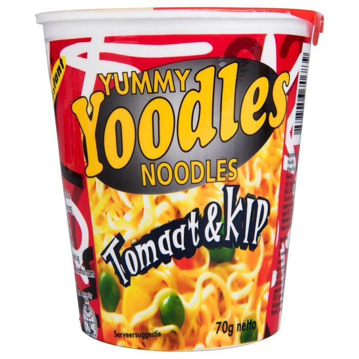 YUMMY YOODLES - INSTANT NOODLES -  KIP/TOMAAT - BEKER 70 G (70g)