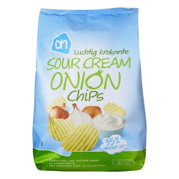 Sour Cream Onion Chips (zak, 150g)