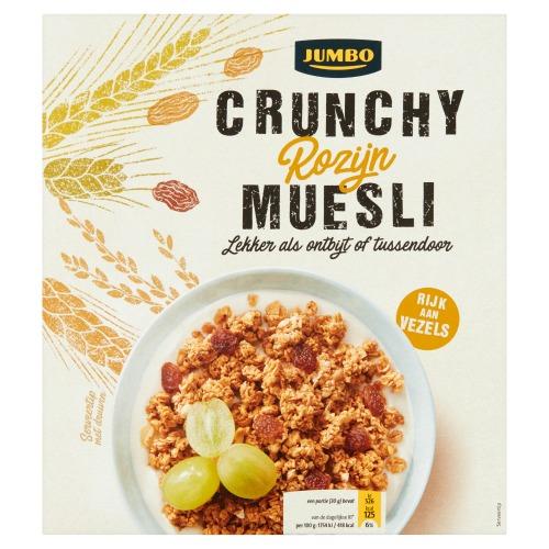 Jumbo Crunchy Rozijn Muesli 500 g (500g)