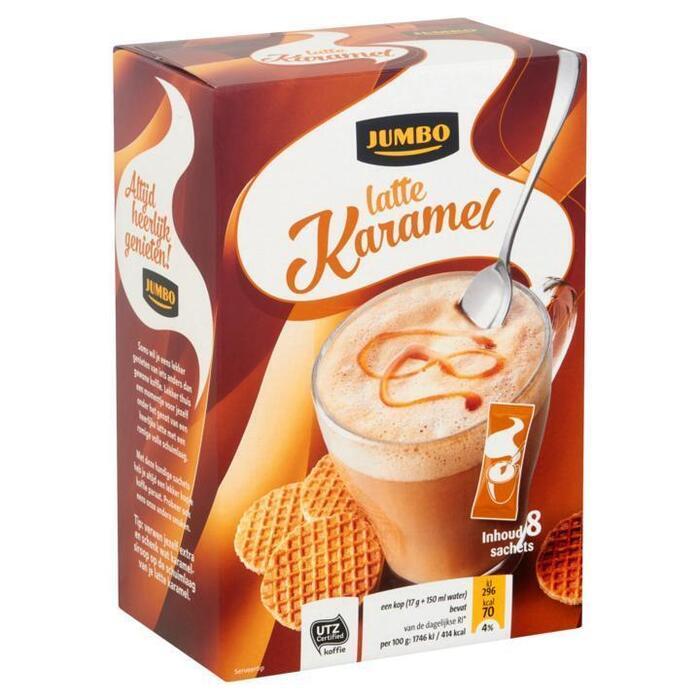 Jumbo Latte Karamel 8 Sachets 136 g (136g)