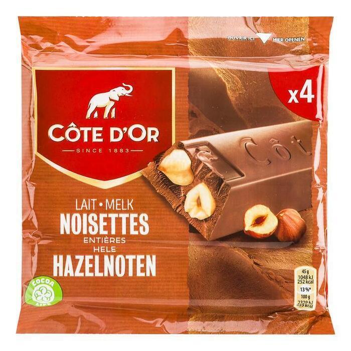 Cöte d'Or Reep melk-hazelnoten (3 × 45g)
