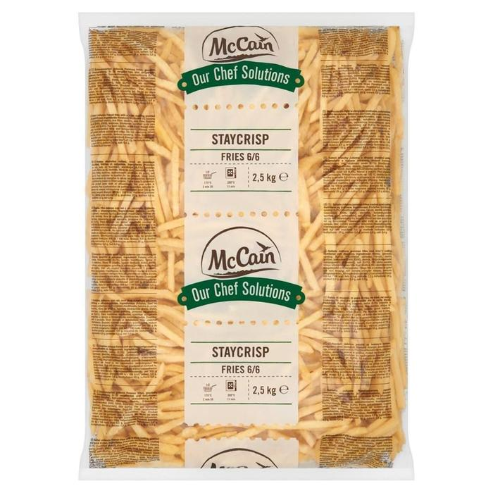 MCCAIN OUR CHEF SOLUTIONS STAYCRISP FRITES 6/6 (2.5kg)