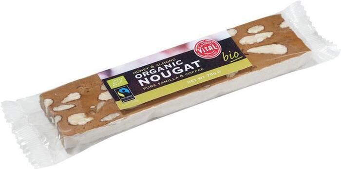 Organic Nougat Honey & Almond (75g)