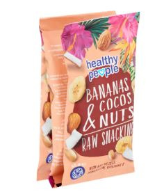 Healthy People Bananas Cocos & Nuts Raw Snacking 3 x 45 g (3 × 135g)