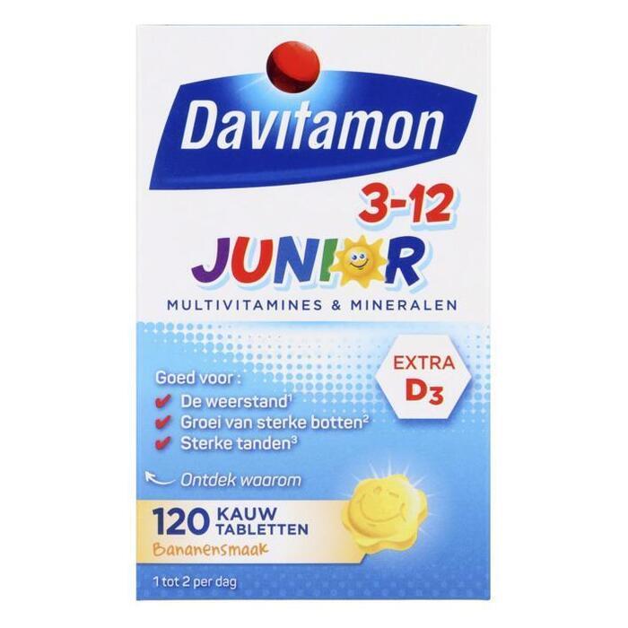 Junior 3+ kauw vitamines banaan
