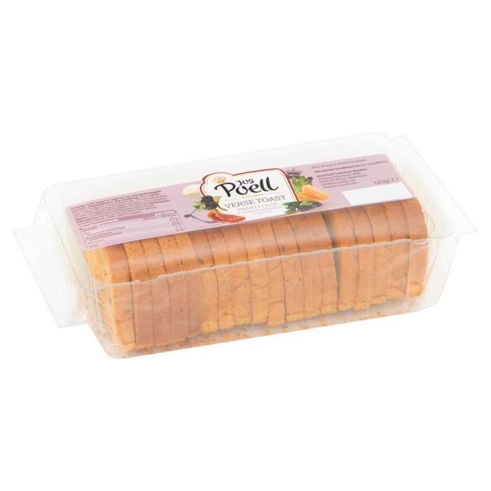 Jos Poell Verse Toast Zwarte Olijf & Zongedroogde Tomaat 125 g (125g)